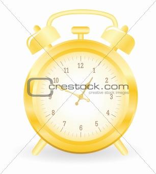 Gold alarm clock
