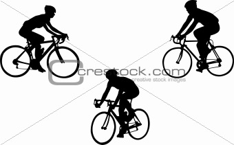 racing bicyclists