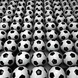 Field of Soccer Balls