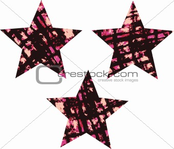 grunge ink splat texture star