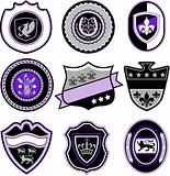 Badge shield set