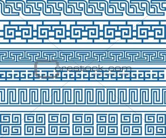 celtic oriental border symbol set