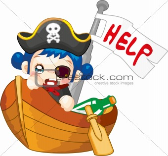 Cute Pirates Cartoon