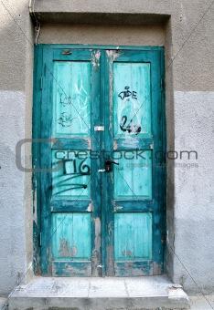 Old door, broken paint