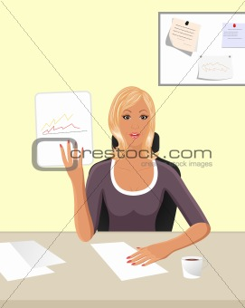 business women with documents
