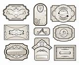 set retro variation vintage labels (7)