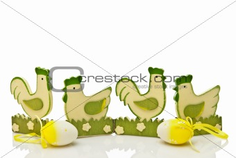 green easter chickens