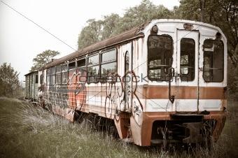 old vintage train