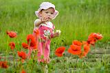 Baby-girl with poppies