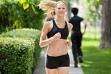 Portrait of a woman jogging