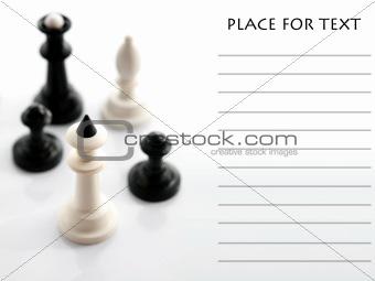 Four chess on white background