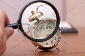 Magnifier and clock
