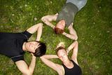 Friends lying down and resting