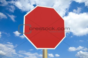 Blank stop sign with clipping path