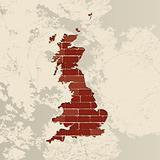 England wall map
