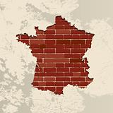 France wall map