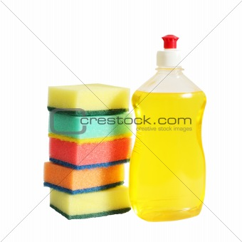 Bottle and sponges