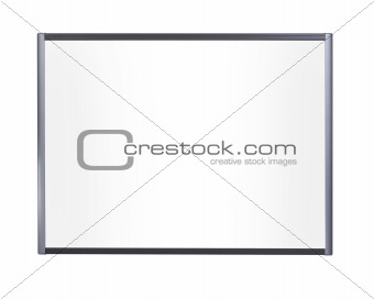 blank board, isolated on white background, free copy space