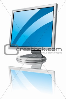 LCD monitor template
