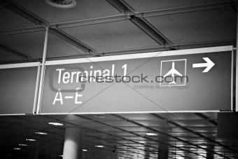 airport terminal billboard