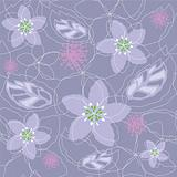 Seamless light purple floral pattern