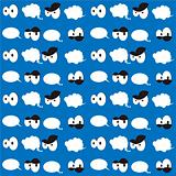 Seamless cartoon wallpaper background fabric