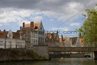 Old city architecture, Brugge, Belgium.