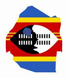 Swaziland map flag