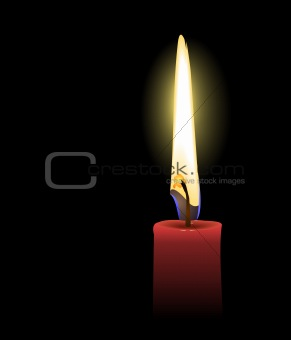 Realistic illustration the red candle
