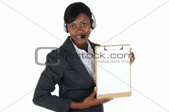 Attractive Business Woman with Headset 04
