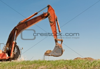 Hydraulic Excavator Arm and Bucket