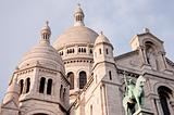 View of the white Sacre Coeur in Paris