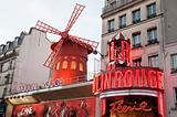 Famous cabaret Moulin Rouge in Paris