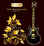 Guitar and gold ornaments