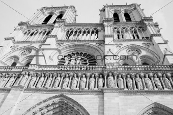 Beautiful architecture of the Notre Dame cathedral