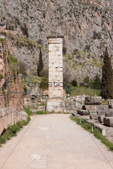 Ancient Column in Delphi