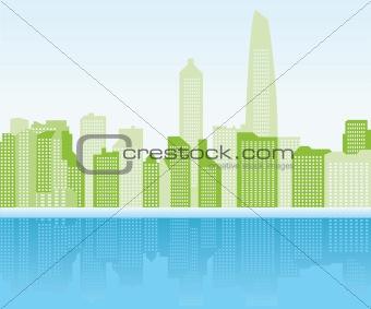green city background - Shanghai
