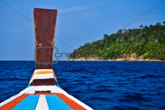 Boat in Sea Sourthern of Thailand
