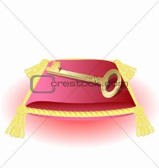 pillow and golden key