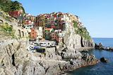 Italy. Cinque Terre region. Colorful Manarola 