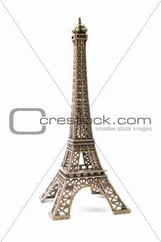 Small bronze copy of Eifel Tower
