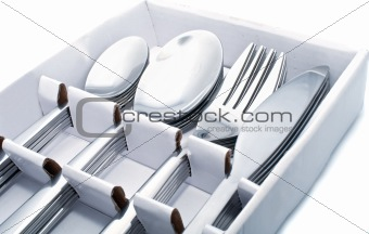 Close up of flatware