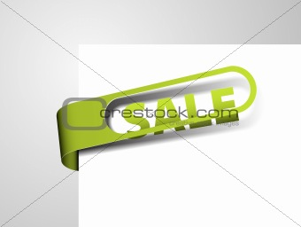 Green paper tag