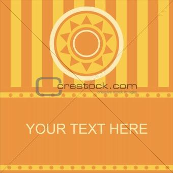 abstract sun frame