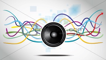 Abstract Background with speaker