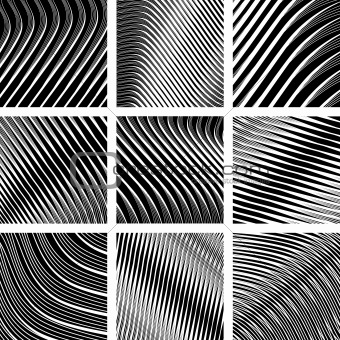Abstract textured backgrounds in op art design.