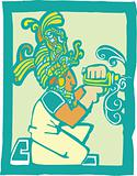 Mayan Workman with Drill