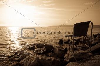chair of lifeguard at sea