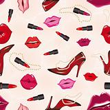 Seamless lips background