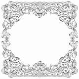 Ornament Square Border, vector.